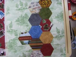 April: Hexi Stripe Block Pattern