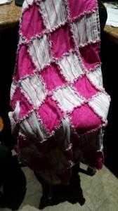 pink flannel rag quilt