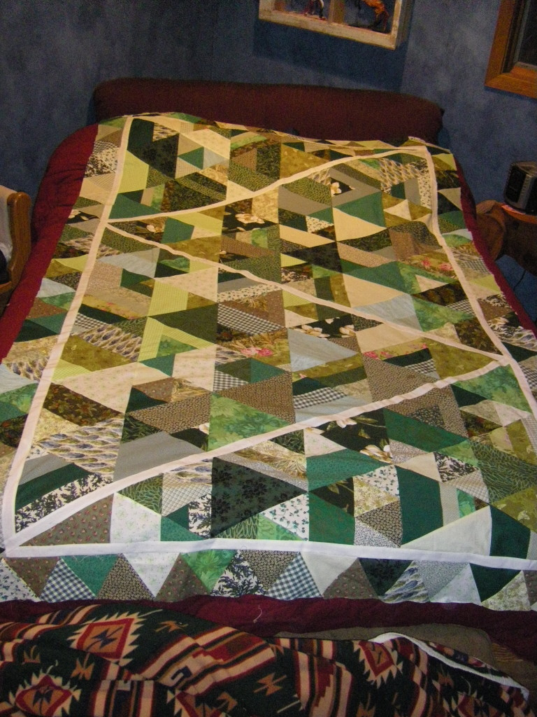 Green Quilt Top Full Picture