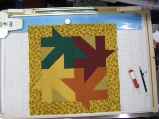 Maple Leaf block made with 2 1/2